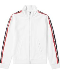 Moncler - Taped Sleeve Zip Track Top - Lyst