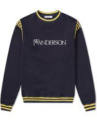 JW Anderson - Logo Varsity Crew Sweat - Lyst