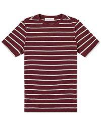 Officine Generale - Striped T-shirt - Lyst