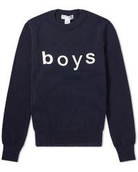 Comme des Garçons - Comme Des Garcons Shirt Boys Crew Knit - Lyst
