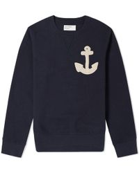Universal Works - Anchor Varsity Crew Sweat - Lyst