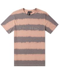 Liam Hodges - Logo Printed And Bleached Cotton T-shirt - Lyst