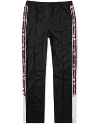 de04efb7942a Lyst - Champion Black Logo Tape Track Pants in Black for Men