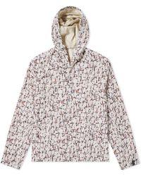 Lanvin - Cracked Paint Print Hooded Jacket - Lyst