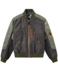 Junya Watanabe | Check Insert Ma-1 Jacket | Lyst
