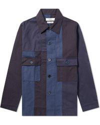 FDMTL - Patchwork Shirt Jacket - Lyst