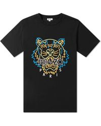 KENZO - Neon Tiger Face Tee - Lyst