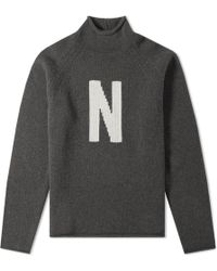 Norse Projects - Thore N Intarsia Crew Knit - Lyst