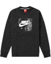 Nike - Air Fleece Crew Sweat - Lyst