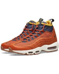 4b76fb60e5 Nike Air Max 95 Sneakerboot Leather And Fabric High-top Trainers for ...