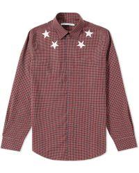 Givenchy - Star Check Shirt - Lyst