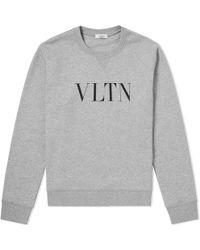 Valentino - Vltn Print Crew Sweat - Lyst