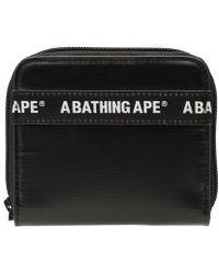A Bathing Ape - Logo Line Wallet - Lyst