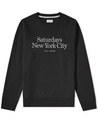 Saturdays NYC - Bowery Miller Standard Embroidered Crew Sweat - Lyst