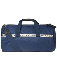 6c8d589d14 Lyst - A.P.C. Elliott Fabric Duffle Bag in Black for Men