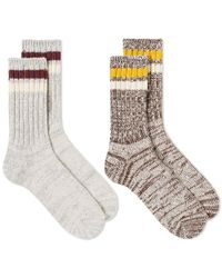 Anonymous Ism - Mix Lines Crew Sock - 2 Pack - Lyst