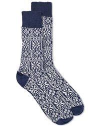 Universal Works - Pattern Sock - Lyst