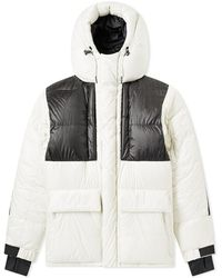 3 MONCLER GRENOBLE Gridwood Expedition Down Jacket - White