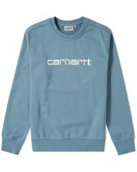Carhartt WIP - Carhartt Embroidered Logo Crew Sweat - Lyst