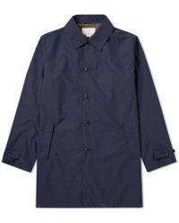 Nanamica - Micro Polyester Taffeta Soutien Collar Coat - Lyst