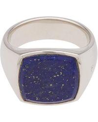 Tom Wood - Cushion Blue Lapis Lazuli Ring - Lyst
