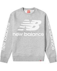 New Balance - Essentials Nb Logo Crew - Lyst