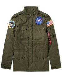 Alpha Industries - M-65 Heritage Nasa Jacket - Lyst