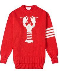 Thom Browne - Red 4-bar Lobster Jumper - Lyst