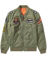 Polo Ralph Lauren - Military Patches Bomber Jacket - Lyst