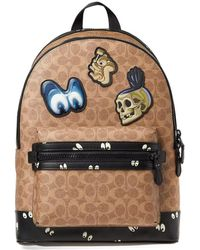 COACH - X Disney Signature Eyes Academy Backpack - Lyst