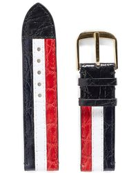 Thom Browne - Caiman Leather Tricolour Watch Strap - Lyst