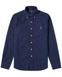 Polo Ralph Lauren - Slim Fit Button Down Poplin Shirt - Lyst