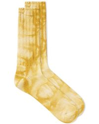 Anonymous Ism - Uneven Dye Crew Sock - Lyst