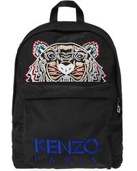 KENZO - Tiger Embroidered Nylon Backpack - Lyst