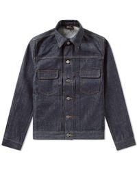 A.P.C. - Work Denim Jacket Indigo - Lyst