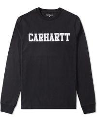 Carhartt WIP - Long Sleeve University Tee - Lyst