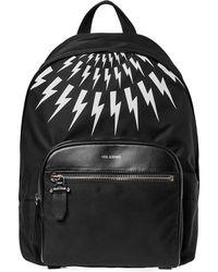 New Balance - Neil Barrett Lightning Bolt Nylon Backpack - Lyst