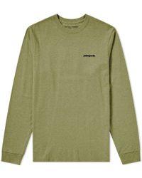 Patagonia - Text Logo Responsibili-tee Long Sleeve Shirt - Lyst