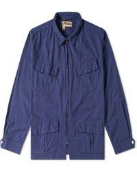 74358b8b1ed1 Nigel Cabourn Us Clip Jacket in Blue for Men - Lyst