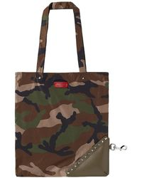 Valentino - Nylon Packable Camo Totebag - Lyst