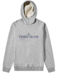 Stone Island - Compass Logo Popover Hoody - Lyst
