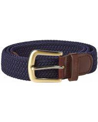 Barbour - Stretch Webbing Leather Belt - Lyst