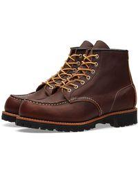 "Red Wing 8146 Heritage Work 6"" Moc Lug Boot - Brown"