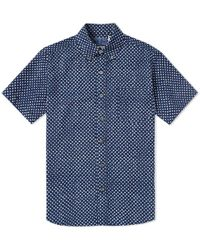 Blue Blue Japan - Short Sleeve Gauze Overlap Dot Shirt - Lyst