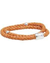 Miansai - Silver Casing Leather Bracelet - Lyst
