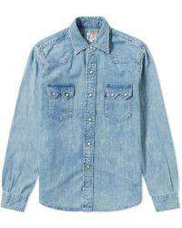 565dc192b6 Levi s 1955 Sawtooth Bullwhacker Sportshirt in Blue for Men - Lyst