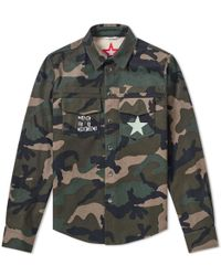 Valentino - Jamie Reid Punk Star Military Shirt Jacket - Lyst