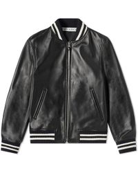 JW Anderson High Shine Leather Ribbed Jacket - Black