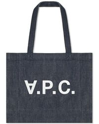 9ab989ffde49 Lyst - A.P.C. Axel Check Tote Bag in Gray for Men