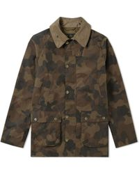 Barbour - Heritage Waxed Camo Sl Bedale Jacket - Lyst